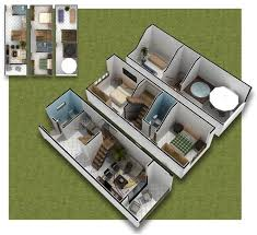 small 3 house plans 3 house plans 3d plans of small house in 35m2 home plans