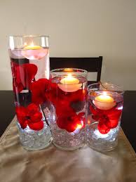 Floating Candle Centerpieces by Floating Candle Centerpiece Kit With Artificial Red Orchids And