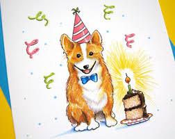Corgi Birthday Meme - dog birthday card etsy