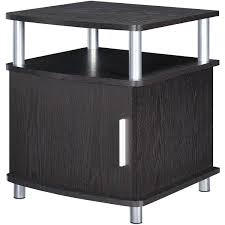 Ameriwood Bedroom Furniture by Ameriwood Home Carson End Table With Storage Espresso Silver