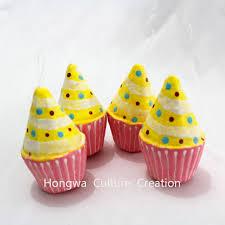 home cake decorating supply 10cm artificial cake foam fake cupcakes cone shape home decoration