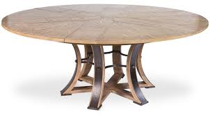 round dining room tables with self storing leaves large round table with self storing leaves