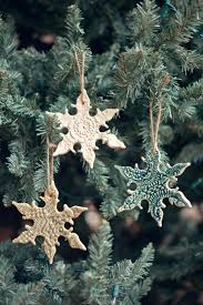 salt dough ornaments with evergreen imprints pinteres