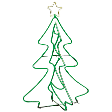 green spiral lighted tree shop ge 5 ft freestanding tree with constant green led lights at