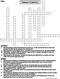 famous explorers worksheet crossword puzzle by science spot tpt