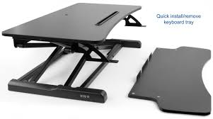 Laptop Riser For Desk Desk V000kheight Adjustable Standing Desk Sit To Stand Gas