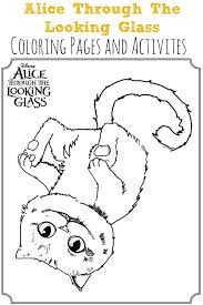 alice through the looking glass coloring sheets activities