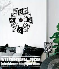 modern wall decals for living room interior design 2014 modern wall decal clock shapes for living room
