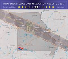 Map Of Kansas City Mo 2017 Total Solar Eclipse In Missouri