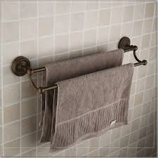 Ideas For Towel Racks In Bathrooms Antique Brass Double Towel Bar For Luxury Bathroom Decorating