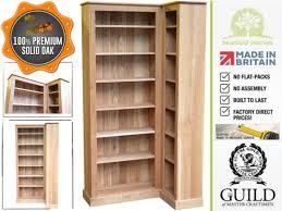 bookcase corner unit solid oak 205cm tall l shaped corner bookcase unit ocb l05 made