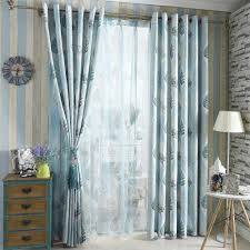 curtain elegant living room decoration with gray and turquoise