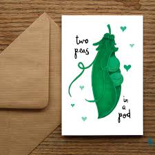 Two Peas In A Pod Charm Two Peas In A Pod U0027 Card By Nic Allan Notonthehighstreet Com