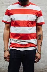 Red And White Striped Awning Levi U0027s Sunset Tee Awning Stripe Red Marshmellow Made In Sri