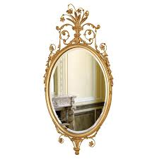 crowned oval mirror ant gold beveled mirrors mirrors home