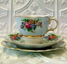 colclough england teacup china trio set cup saucer and plate soft
