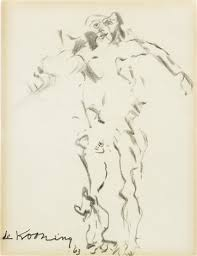 drawing of a woman clam digger by willem de kooning on artnet