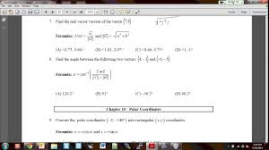 precalculus final exam review youtube
