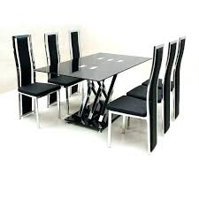 cheap glass dining room sets dining room chairs set of 6 pinnipedstudios com
