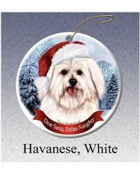 deals on havanese white howliday ornament