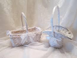 flower baskets white woven wicker baskets wedding ready