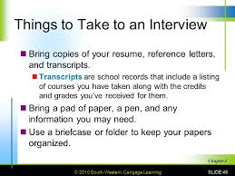 Bring Resume To Interview 3 Getting The Job 3 1 Getting An Interview Ppt Video Online Download