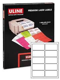 uline laser labels white 4 x 2