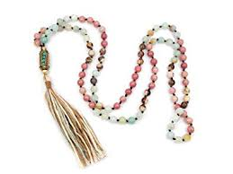bead necklace long images Long beaded necklace with bohemian tassel and jpg