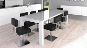 table de cuisine moderne en verre table de cuisine en verre avec rallonge unique table cuisine moderne