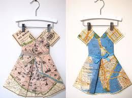 paper maps vintage map paper dresses inhabitots