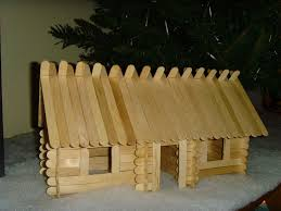 lincoln sticks popsicle stick log cabins 8 steps with pictures