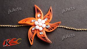 diy paper quilling rakhi for raksha bandhan how to make jk