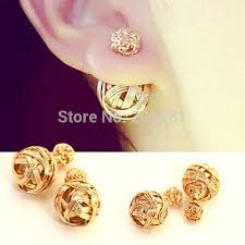 gold stud earrings for women 20pairs lot fashion stud earring for women sides
