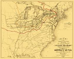 Ohio Canal Map by Old Railroad Map Atlantic Seaboard Trade Routes 1853