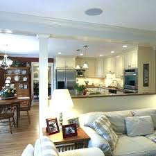 decorating ideas kitchen half wall decorating ideas kitchen living room combo kitchen living