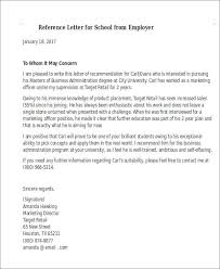 sample reference letter for schools 7 examples in pdf word