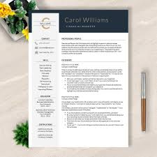 Classic Resume Template Modern Resume Template Word And Apple Pages No 004