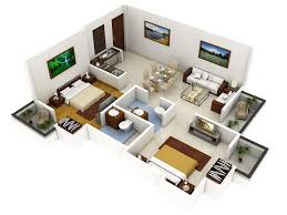 Houzd by Simple House Plan With 2 Bedrooms 3d Home Design Ideas