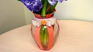 A Flower Vase Paper Decorated Vase Grandparents Com
