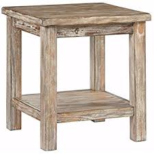 Rustic End Tables Furniture Signature Design Vintage Chair Side