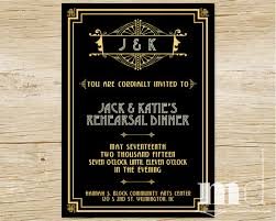 gatsby wedding invitations great gatsby rehearsal dinner invitation gatsby wedding dinner