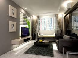 Living Room Design By Size Interior Small Apartment Interior Design By Black Wooden Glass