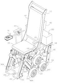 patent us6484829 battery powered stair climbing wheelchair