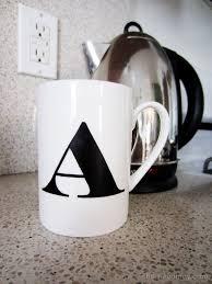 coffee mug ideas diy monogrammed cup homey oh my