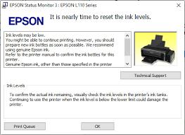 reset printer epson l110 manual mengatasi lu indikator tinta nyala printer epson l110 l120 l210