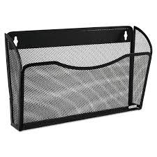 rolodex single pocket wire mesh wall file letter black walmart com