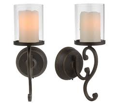 Wall Sconce Set Of 2 Candleimpressio Set Of 2 Flameless Wall Sconces With Timer Page