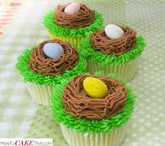 Easter Cupcake Icing Decorations easter nest cupcakes how to cake that