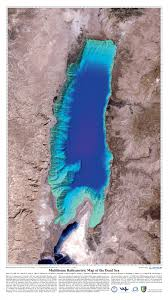 Dead Sea Map Dead Sea Over Shaded Relief Map
