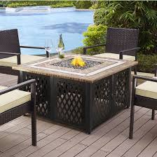 tucson outdoor propane fire table with stone top measuring 40 1 4